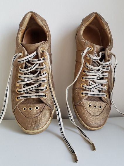 Tênis Osklen Dourado - Tamanho 36 - Pouco Usado