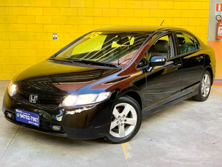 Honda New Civic Lxs 1.8 Flex Automático Bancos Couro