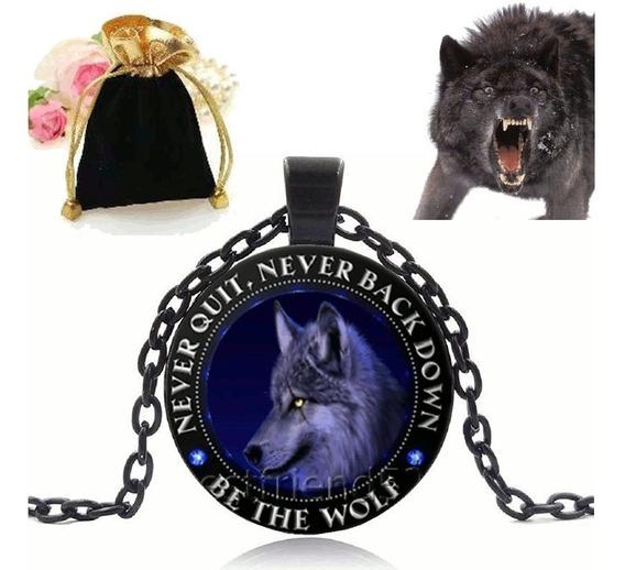 Colar Com Pingente Seja O Lobo Black Ice Wolf Lobo De Gelo