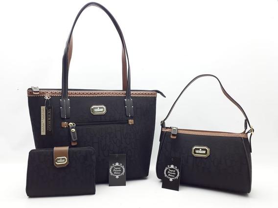 Bolsa Victor Hugo New Foxy + Bolsa Pequena Ada + Carteira Vh