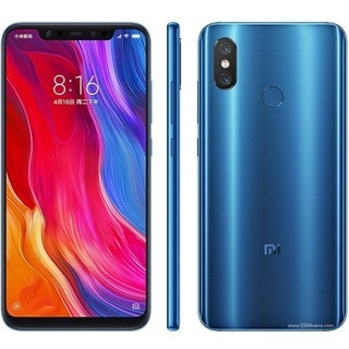 Smartphone Xiaomi Mi 8 64gb - Azul - Versão Global- Lacrado