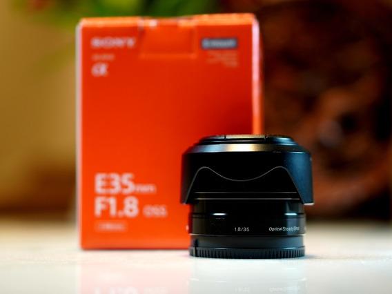 Sony 35mm F/1.8 Oss Aps-c Sel35f18 Na Caixa + 3 Filtros