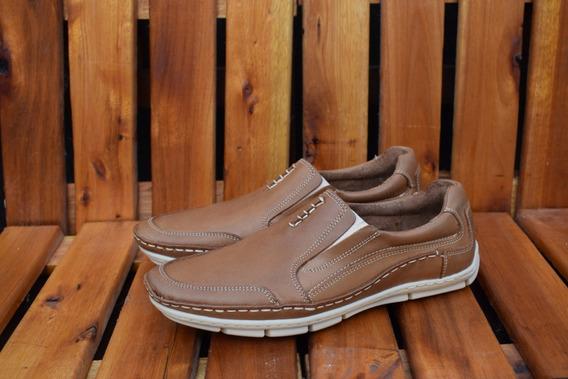 Zapatilla De Cuero Hombre Zapato Elastizado Caballero Palma