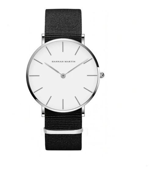 Relógio Hannah Martin Pulseira Náilon Nylon Quartzo Japonês