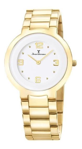 Relógio Jean Vernier Feminino Jv1121 Social Slim Dourado