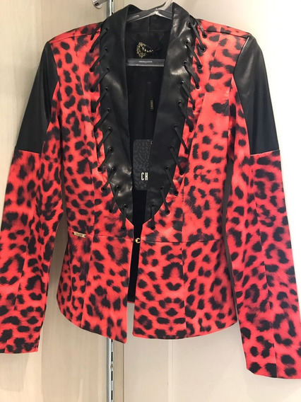 Jaqueta Feminina Casaco Estampado Moda Luxo Casaquinho