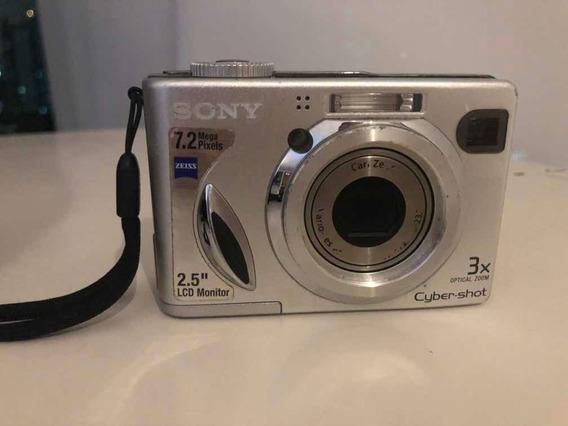 Camera Fotograficasony 7.2 Lcd Monitor 2.5 Cyber Shot