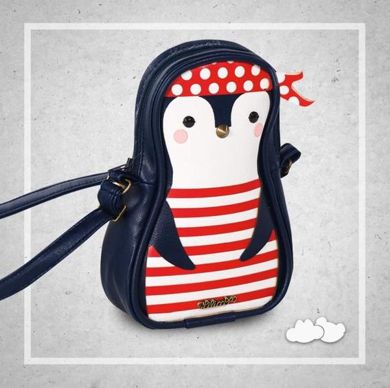 Bolsa Mochila Infantil Feminina Lilica Ripilica Baby Pinguim