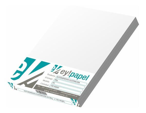 Papel Ilustración Autoadhesivo A4 100u Ideal Candybar Láser