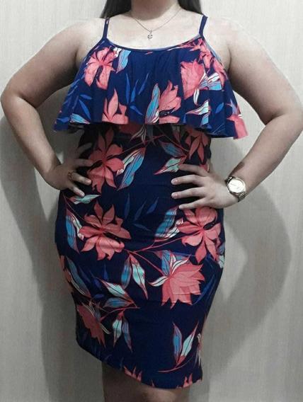 Vestido Plus Size Estampado Lindo Moda Para Gordinhas