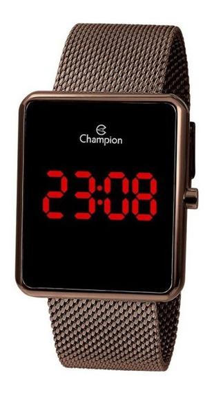 Relógio Champion Original Digital Unissex Rosê Led Ch40080r