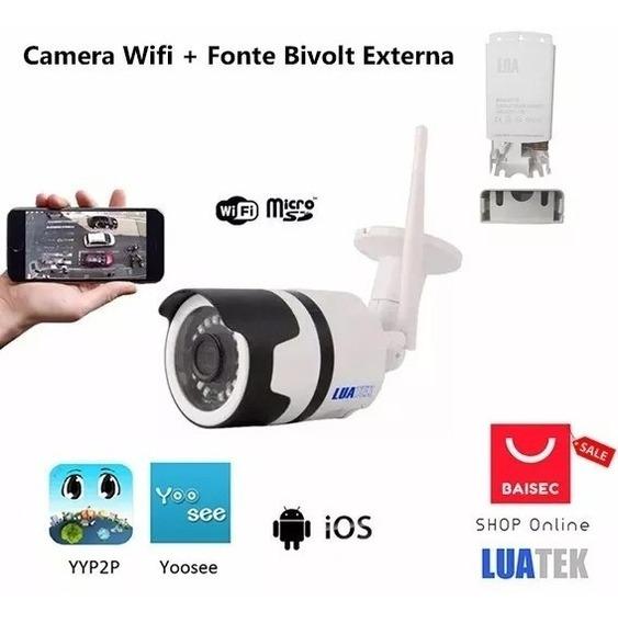 Câmera Wifi Externa 720p Memoria Dia E Noite Alarme L1