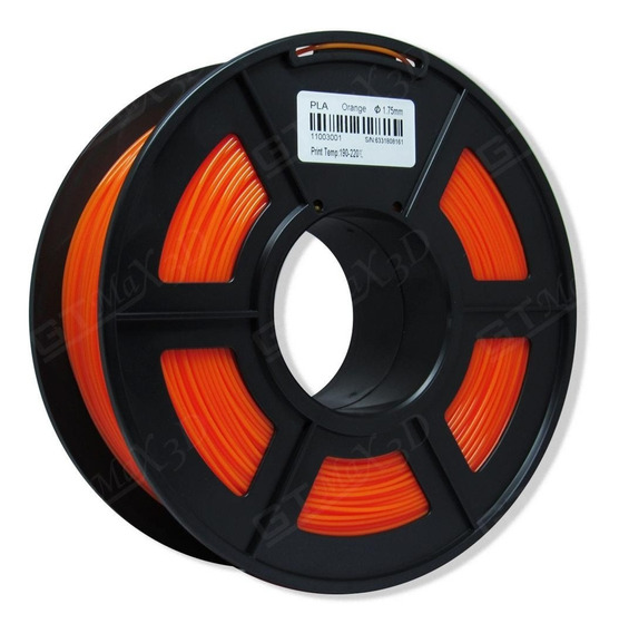 Filamento Pla Plus Laranja - 1.75mm - 1kg