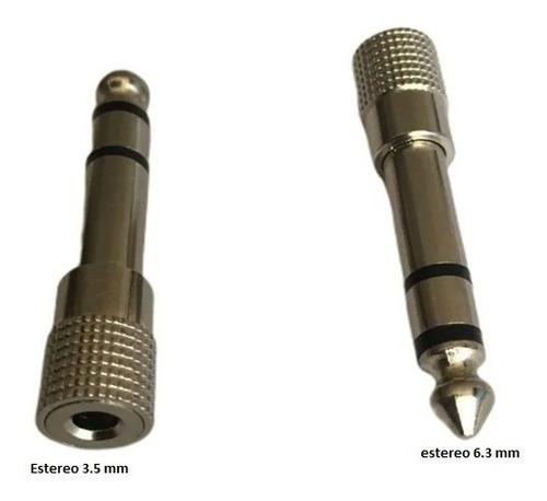 Imagen 1 de 3 de Convertidor Adaptador Estéreo 6.5mm Macho-jack 3.5mm Hembra