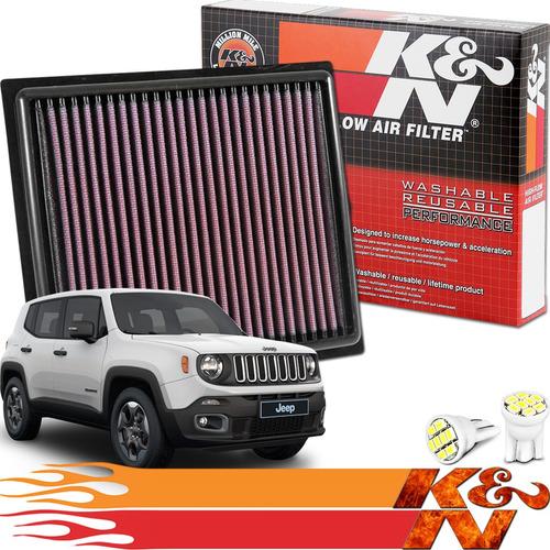 Imagem 1 de 5 de Filtro Ar Esportivo Ken 33-5034 Jeep Renegade 1.8 Flex 2020