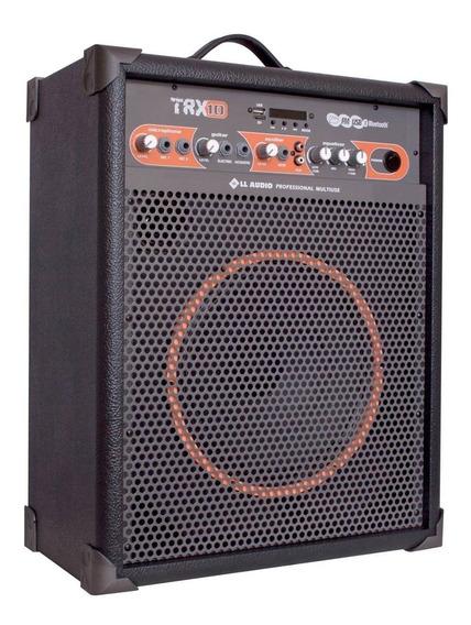 Caixa De Som Amplificada Multiuso Trx10 Fm Bluetooth Usb