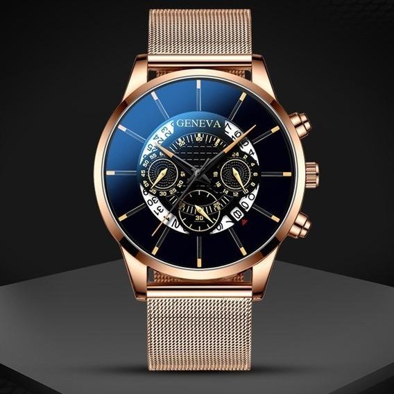 Relógio Masculino Classic De Luxo Com Calendário