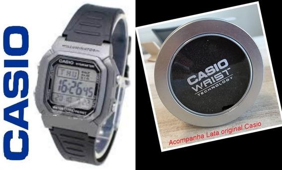 Relógio De Pulso Digital Casio Multialarme 100m W800 H M