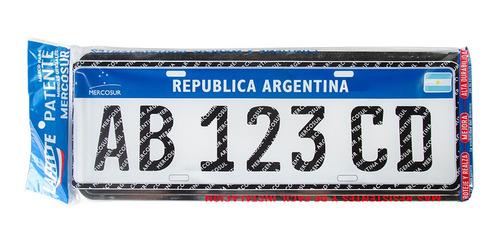 Imagen 1 de 5 de Marco Patente Cromado Mercosur Auto