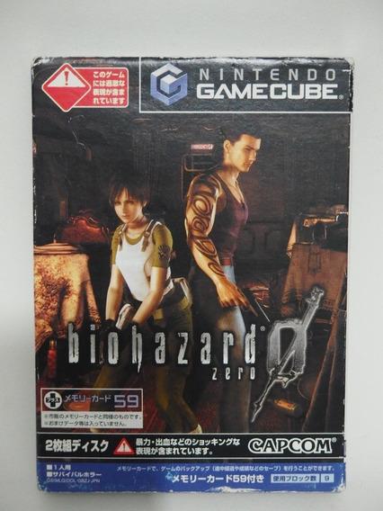 Resident Evil 0 Nintendo Gamecube Japones Sem Manual