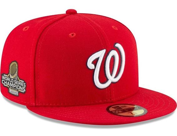 Gorra New Era Nacionales Washington Campeones 2019 Red