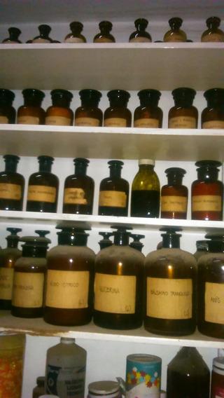 Frascos Esmerilados Antiguo Farmacia Por 2 Unid. Grandes