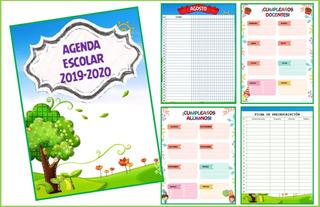 Agenda Escolar Verde Pdf