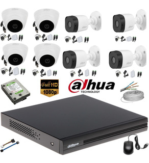 Camaras Seguridad Kit 8 Dahua 1080 + 8 Cámaras 1080 + D 1 Tb