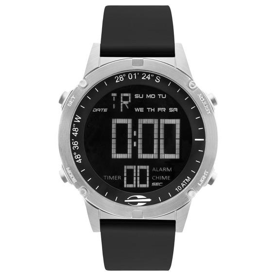Relógio Masculino Mormaii Mow13901d/2p 46mm Silicone Preto