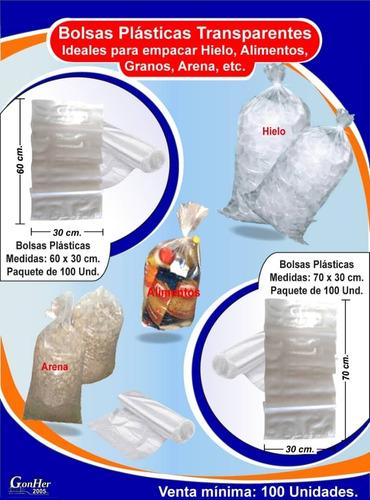 Bolsas Plásticas Para Hielo U Otros  Medida 30×60