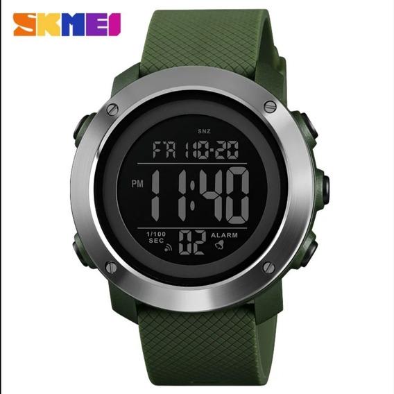 Relógio Pulso Skmei Tipo Luxo Unisex - Cor Verde Novo