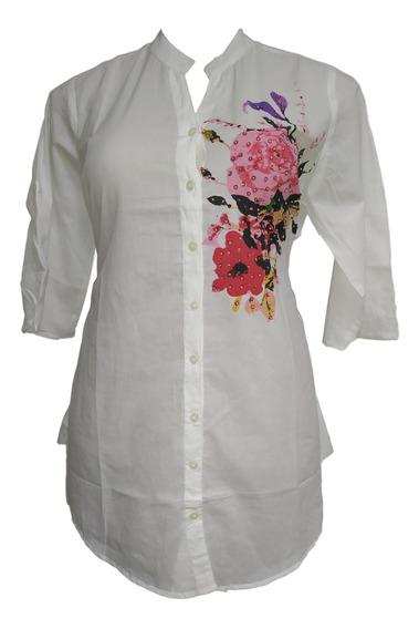 Bata Branca Indiana Bordada Moda Boho 5011