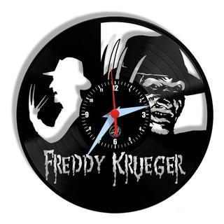 Freddy Krueger Filme Terror Relógio Parede Vinil Lp