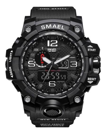 Relógio Smael 1545 Masculino Digital Led Multifuncional Prova D