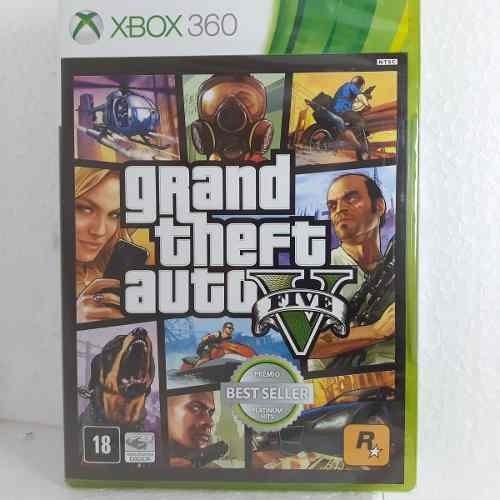 Gta V Xbox 360 Original Grand Theft Auto Mídia Física Gta 5