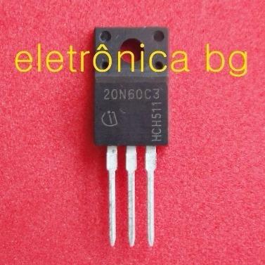 20n60c3 G20n60 20n60 Mosfet 20a 650v Original To220 Kit C/ 2