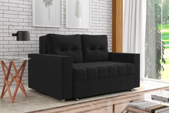 Sofá Cama Suede 2 Lugares Retrátil Elegante Conforto