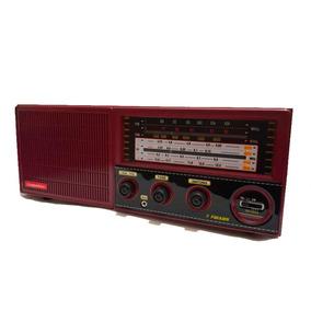 Rádio Portátil Cabeceira 7 Faixas C/aux Vinho Companheiro Cr