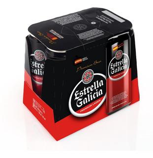 Pack X 6 Estrella Galicia Lata 500 Ml