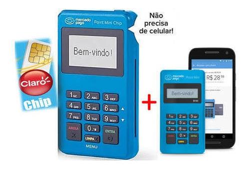 Imagem 1 de 4 de 2 Máquinas Point Mini Chip Mercado Pago
