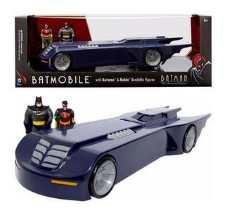 Dc Batimovil Con Batman Y Robin Figuras Flexible