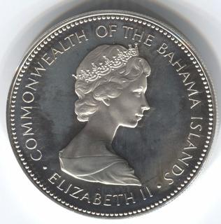 Bahamas 2 Dólares 1973 De Plata (126p)