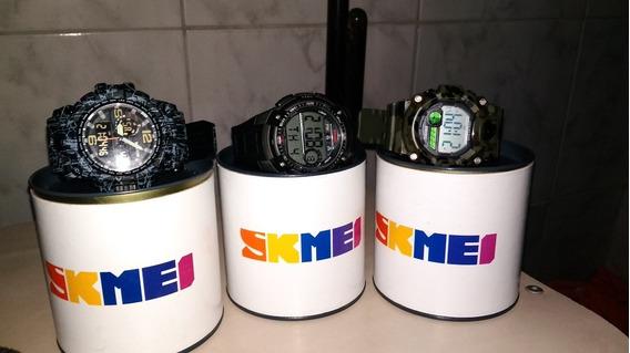 Kit Três Relógio Skmei