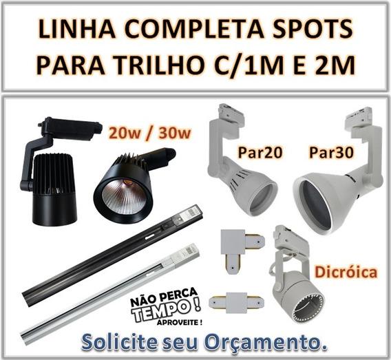 Spot P/trilho Par30 11w 3.000k Preto Ou Branco