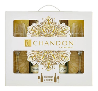 Chandon 2 Botellas + 2 Copas - Extra Brut - Belgrano