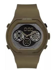 Relógio Mormaii Masculino Anadigi Verde Mo160323ai/8v