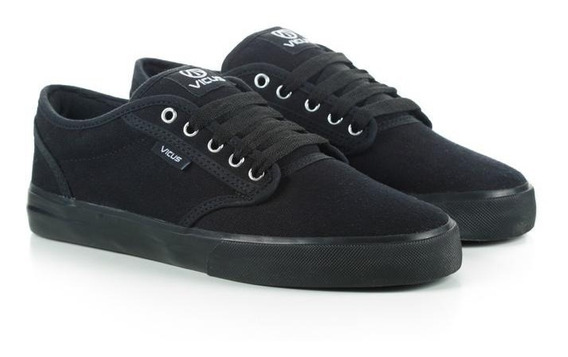 Zapatillas Vicus Folk Canvas Total Negro