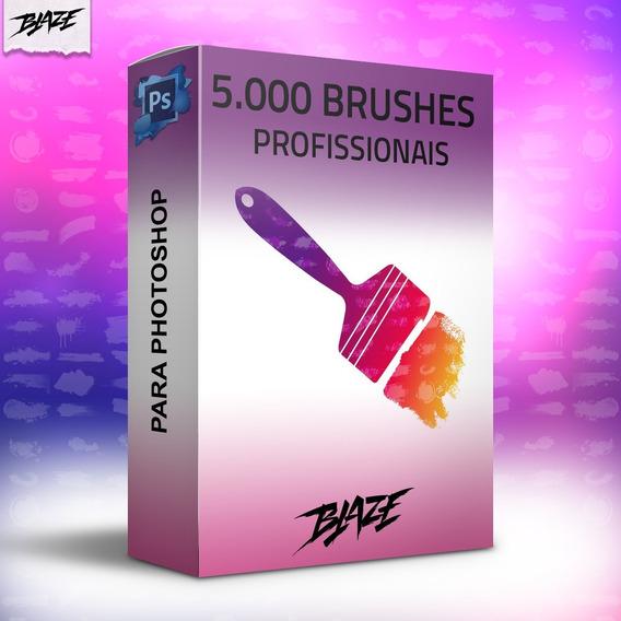 Pack 5.000 Brushes Pincéis Para Photoshop + Brinde