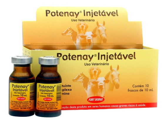 Potenay Injetavel 10ml C/10 Frascos - Original