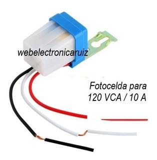 Fotocelda Funcional Con 120v Encendido Electrónico 10 A 800w